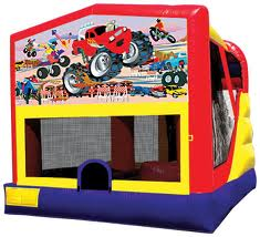 monster truck combo bounce house rental