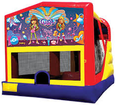 girl power combo bounce house rental