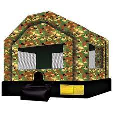 camoflague bounce house