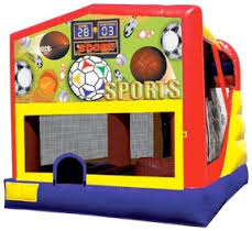 sports combo bounce house rental